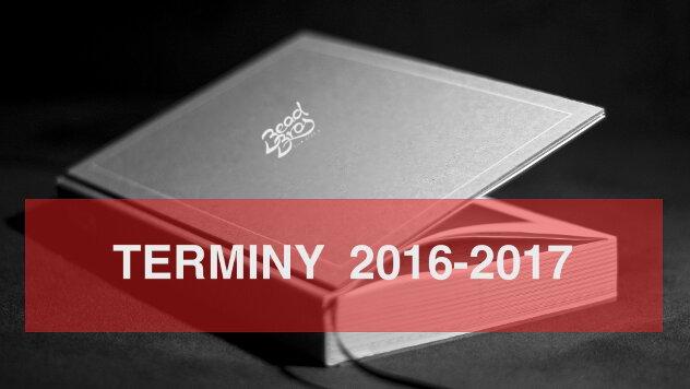 Informacja o terminach 2016-2017